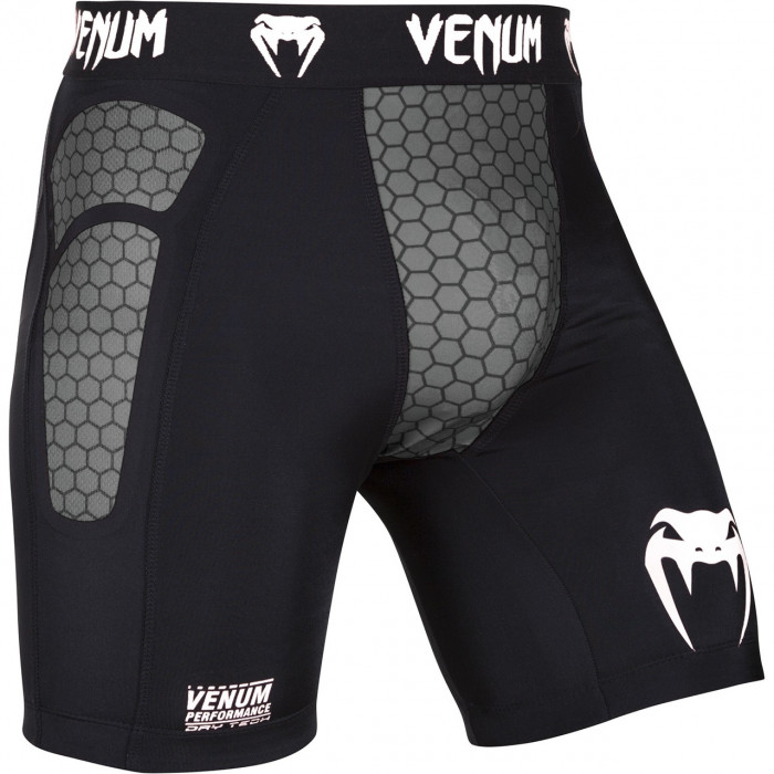 Компрессионные шорты Venum Absolute Compression Shorts (V-1091) Black Grey р. M