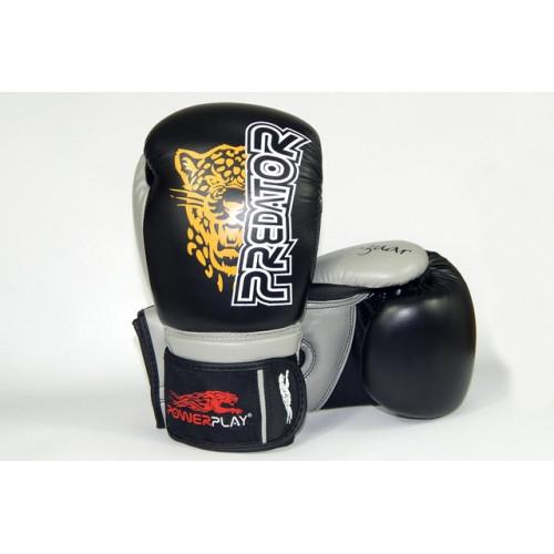 Боксерские перчатки PowerPlay Jaguar - Predator series (3008) Black 8 oz
