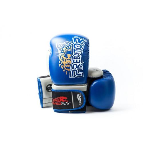 Боксерские перчатки PowerPlay Jaguar - Predator series (3008) Blue 14 oz