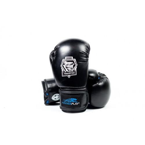 Боксерские перчатки PowerPlay Shark Series (3001) Blue 12 oz