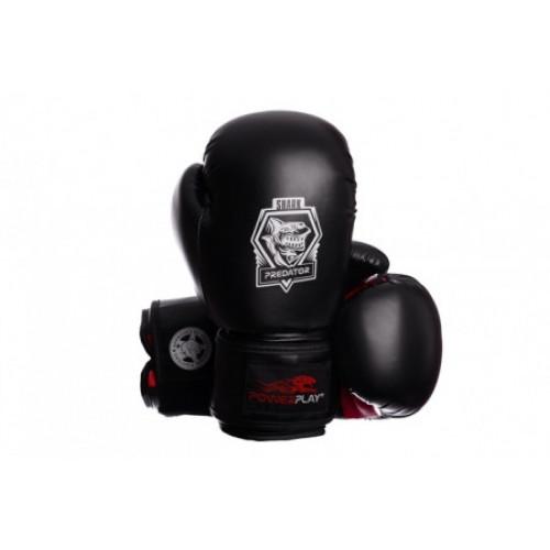 Боксерские перчатки PowerPlay Shark Series (3001) Red 10 oz