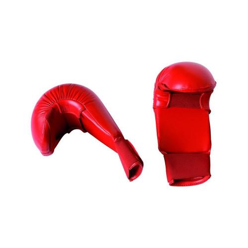 Перчатки для карате Adidas WKF (661.22) Red без защиты большого пальца р. L