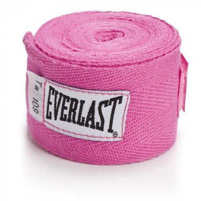 Боксерские бинты Everlast Hand Wraps Pink 2.75 м
