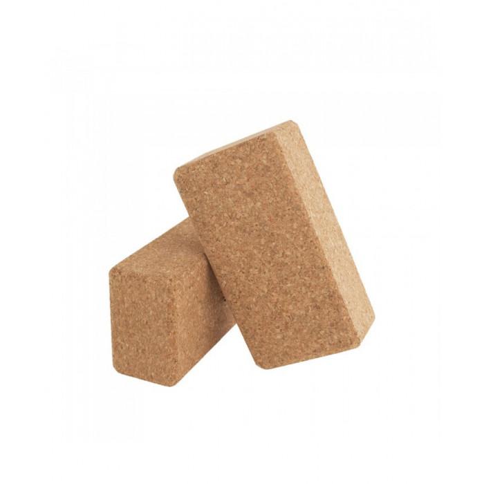 Блок для йоги LiveUp Yoga Brick (LS3234) пробковый