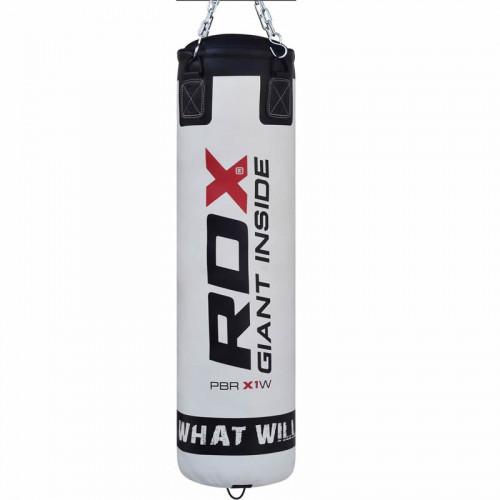 Боксерский мешок RDX Leather White 1.2 м, 40-50 кг