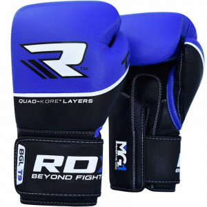 Боксерские перчатки RDX Quad Kore Blue 10 oz