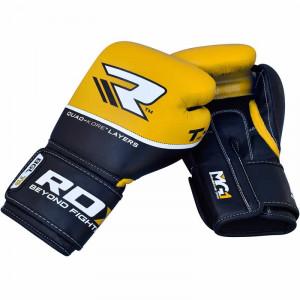 Боксерские перчатки RDX Quad Kore Yellow 16 oz