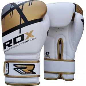 Боксерские перчатки RDX Rex Leather Gold 10 oz