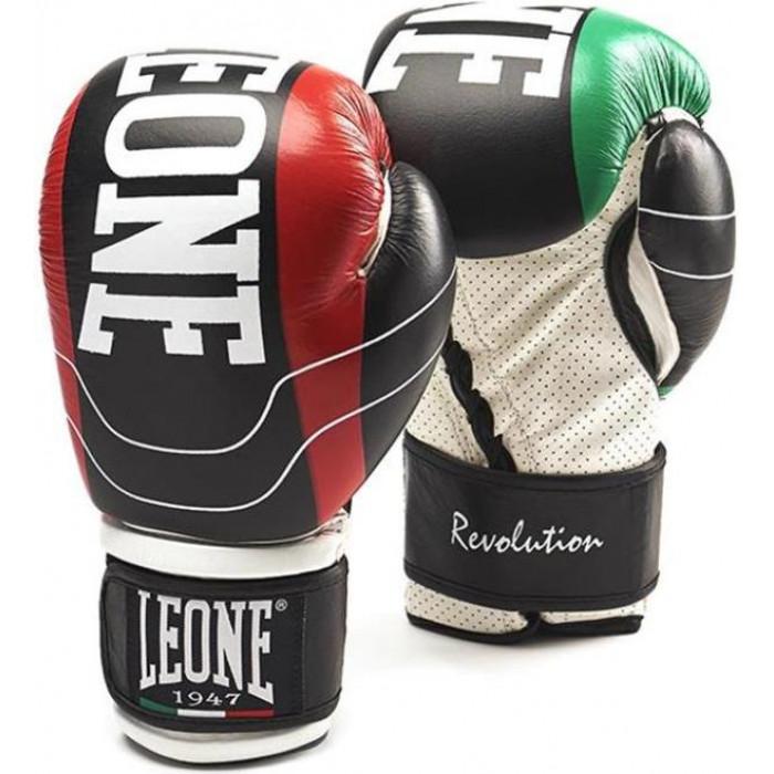 Боксерские перчатки Leone Revolution Black 16 oz