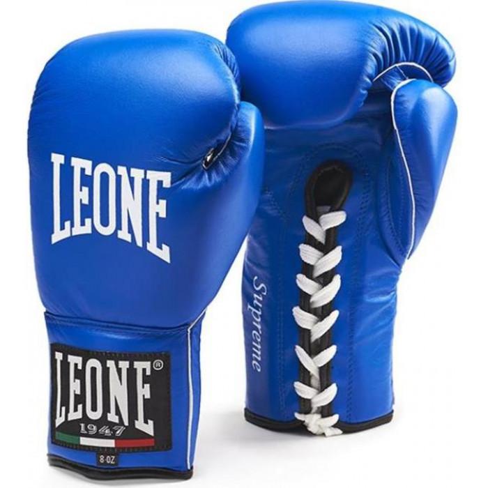 Боксерские перчатки Leone Supreme Blue 8 oz