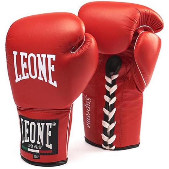Боксерские перчатки Leone Supreme Red 8 oz