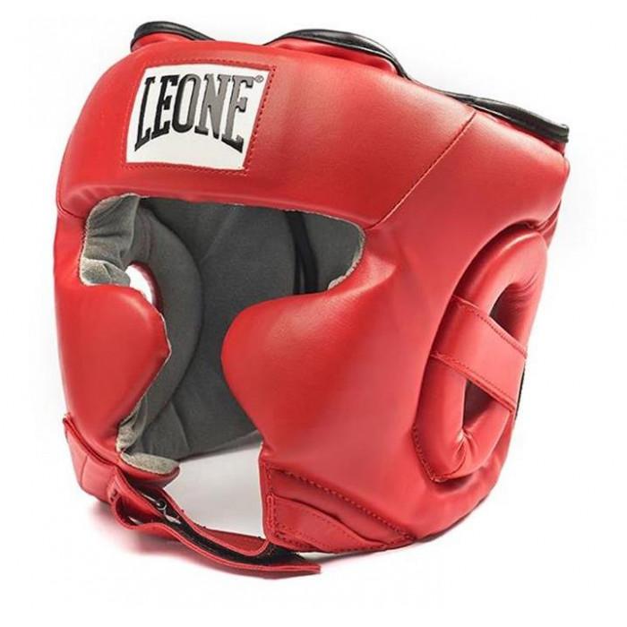 Боксерский шлем Leone Training Red р. M