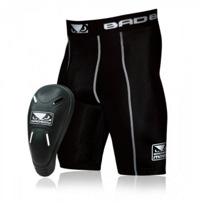Компрессионные шорты с ракушкой Bad Boy Black р. XL