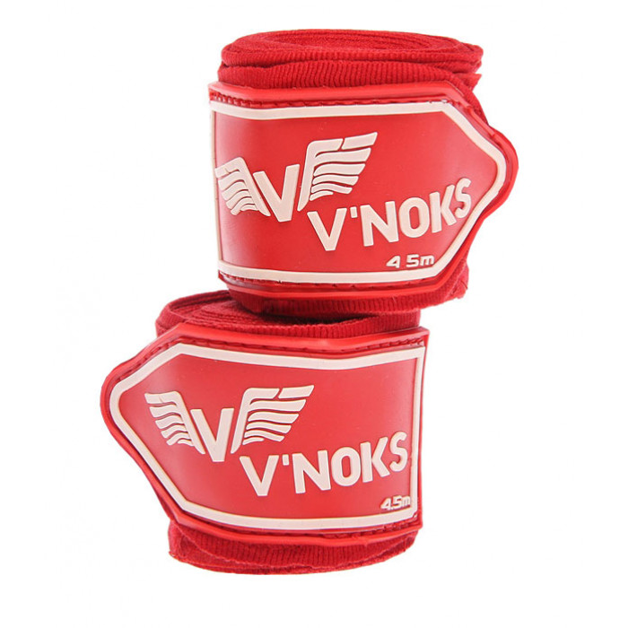 Боксерские бинты V`Noks Red 4.5 м